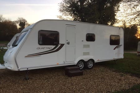 This is a 5 Berth touring caravan - Ashill