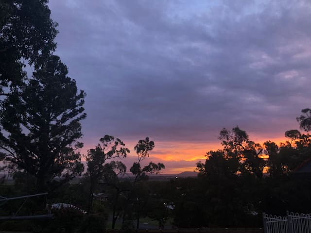 Afternoon sunset from back deck
