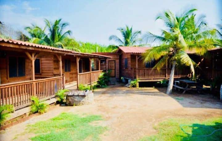 Cabins on Beautiful Beach Punta Perula, Jalisco.