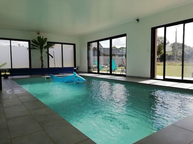 Villa Lantic avec piscine chauffée 28°