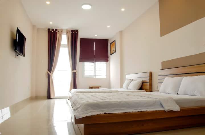 城市景觀 雙大床房, 帶露台