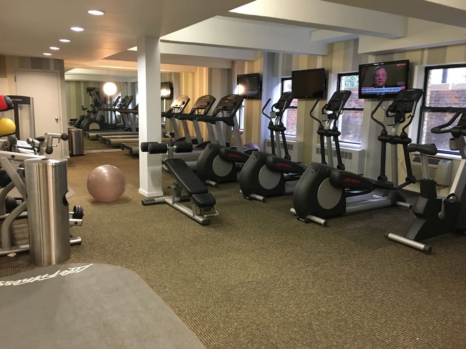 Free Gym in building