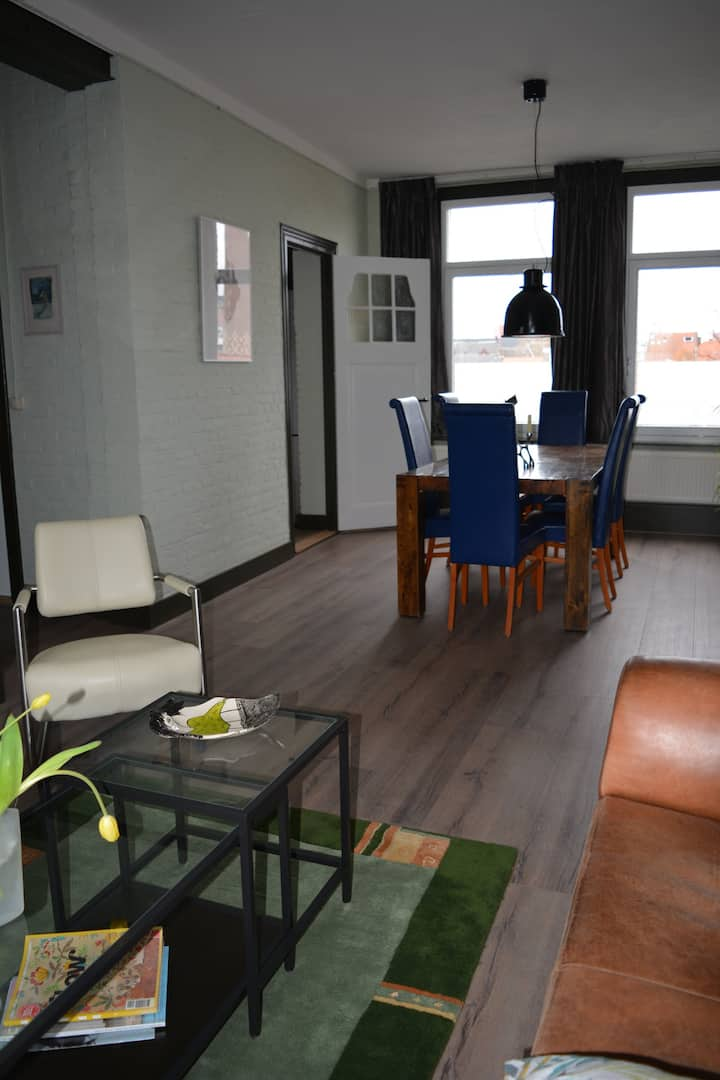 Appartement in oud industrieel pand.