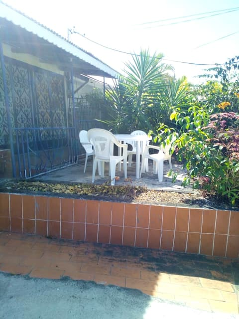 House with 2 bedrooms in Basse-Terre, with wonderful sea view and enclosed garden