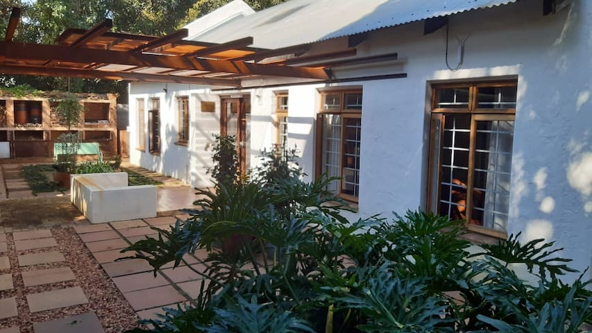 Barn type open-plan house