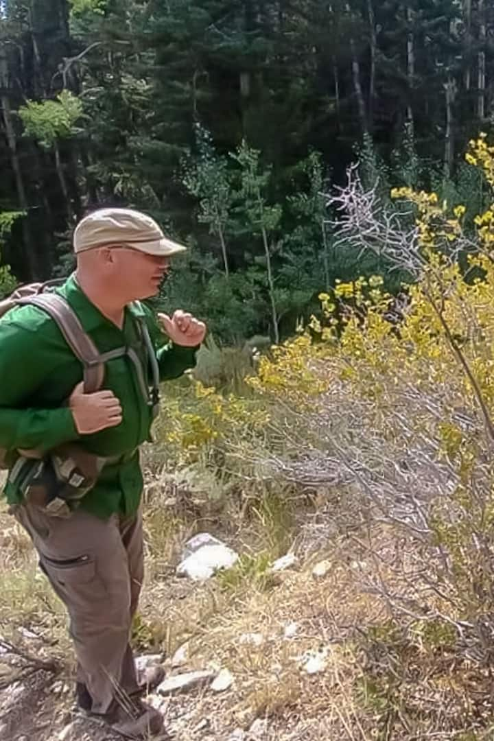 Me doing some interpreting along a trail