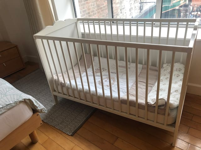 This full size cot available on request. Also available is a pop up travel cot.
