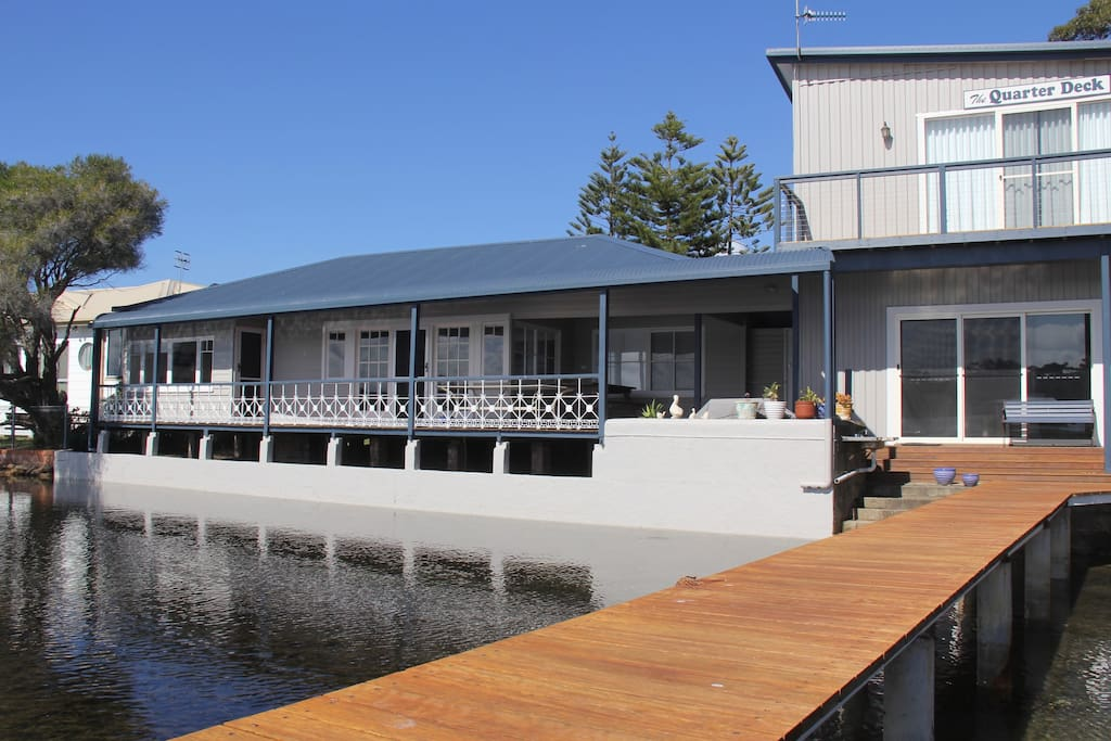The QuarterDeck, looking from the private jetty
