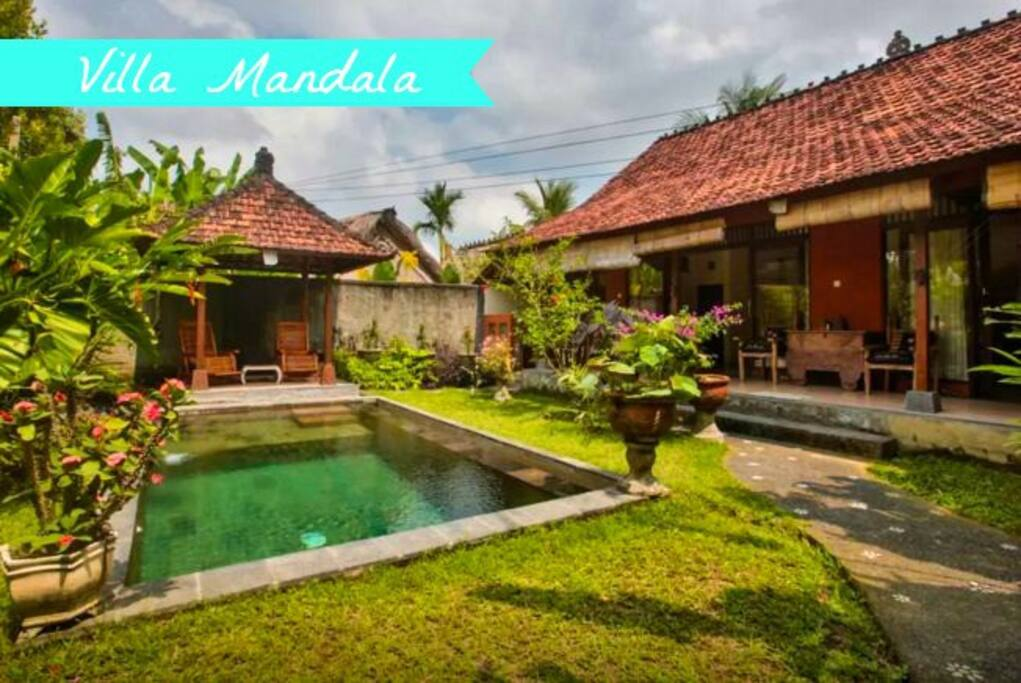 Villa Mandala, Penestanan, Ubud. View from the entrance.