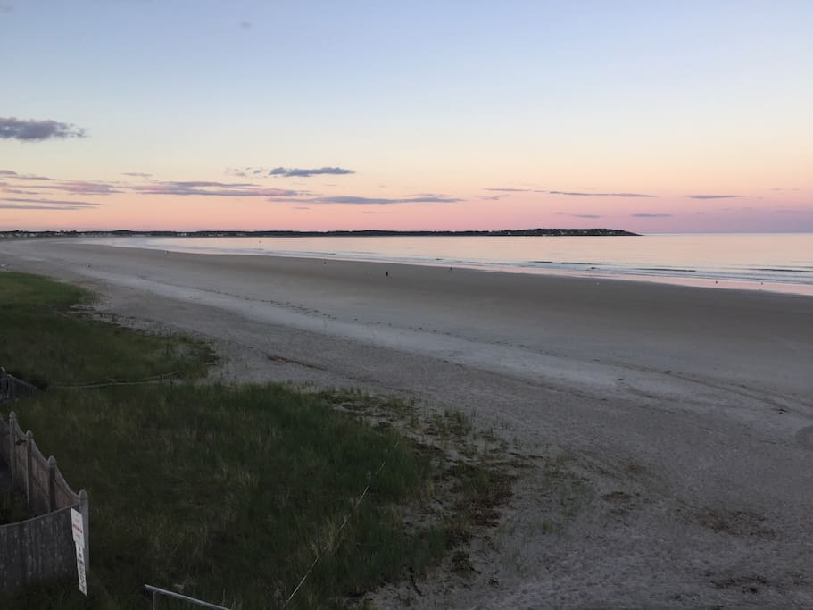 Beach in front of unit! Sunsets are beautiful!