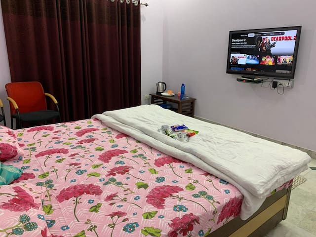 Comfy Bedroom in Gomti Nagar.