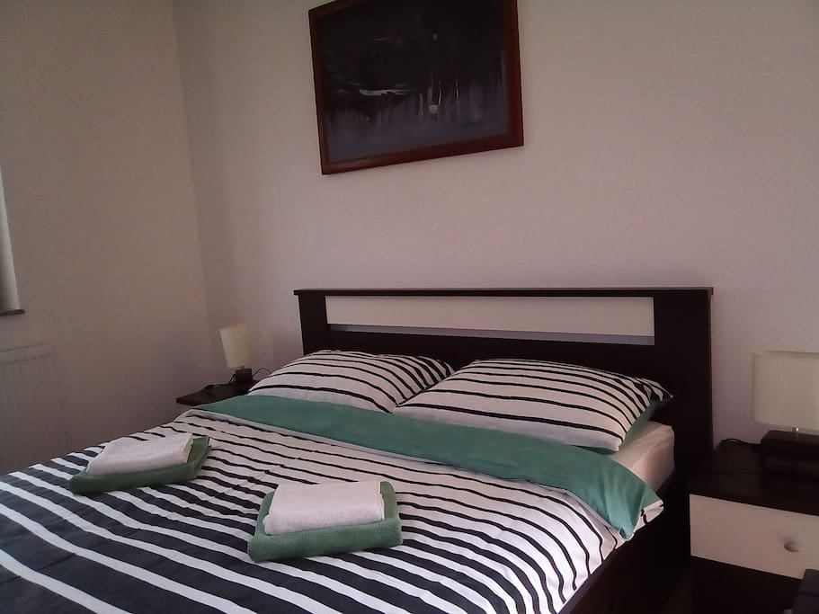 Studio apartment double bed