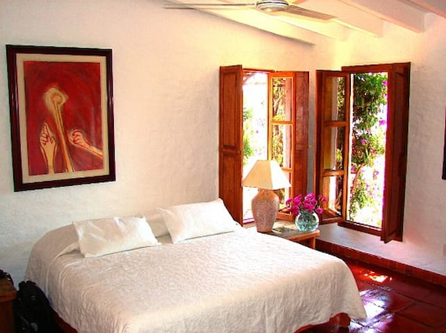 Bedrooms are nicely appointed with art, traditional crafts and are very clean and comfortable.