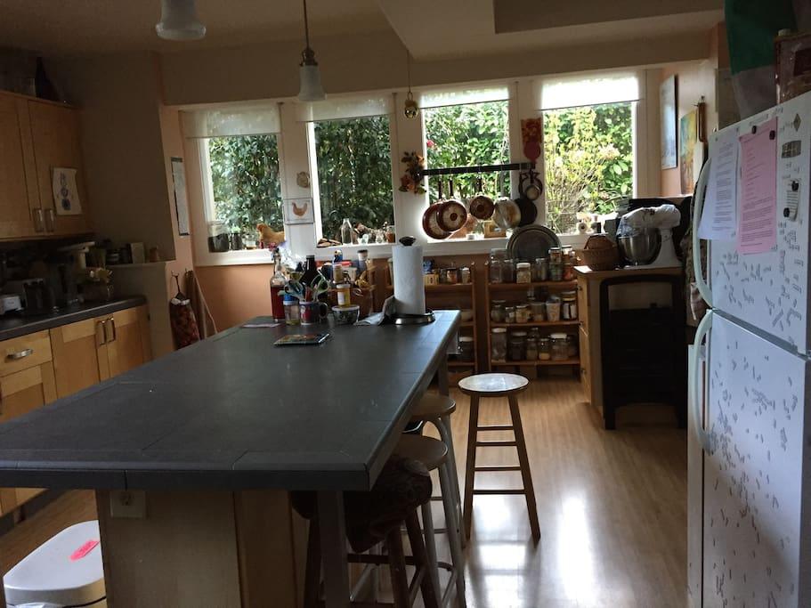 Kitchen in the daylight basement