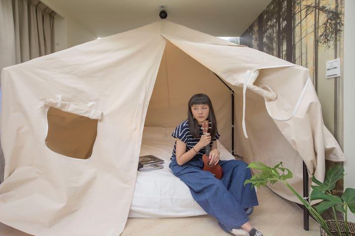 嬉皮主臥室(雙人床加大)/Hippie Bedroom (Queen-Size)