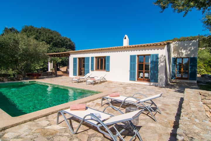 """Beautiful Holiday Home """"Finca Es Garballó"""" with Garden, Pool, Terraces & WiFi; Parking Available"""