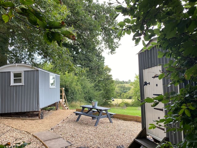 Tranquil & private Shepherds Hut on smallholding