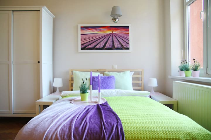 Lavender Apartment, 6 min - Krakow Central Station