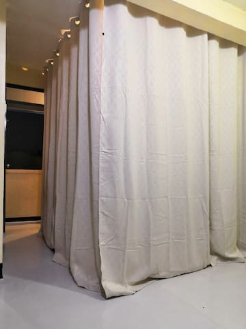 Adjustable Blockout curtains for privacy
