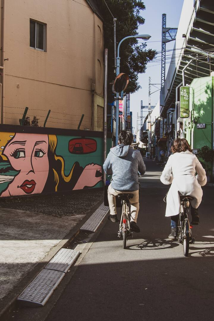 Take in the street art of Koenji