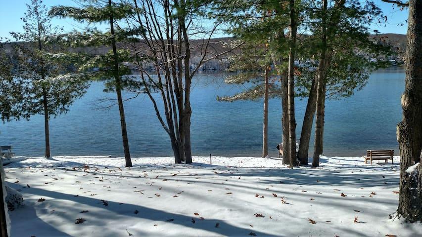 Log Cottage on Blue Lake-We have lots of snow!!