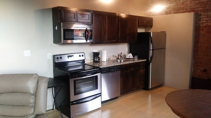 updated appliances with dishwasher