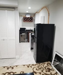 Comfortable basement with guess accessibility