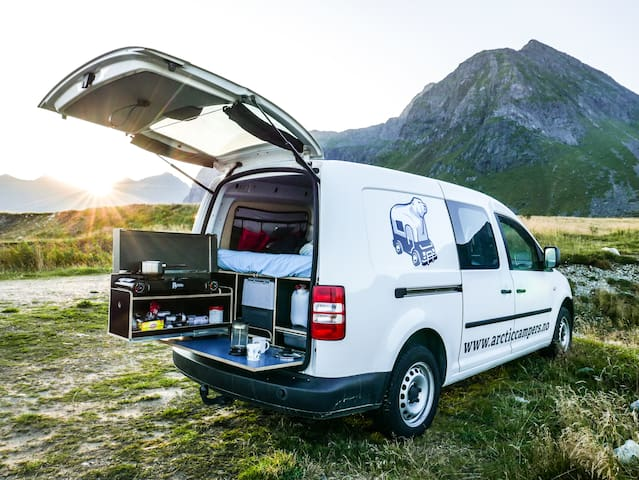 mini camper van from arctic campers in tromso campers rvs for rent in troms troms norway. Black Bedroom Furniture Sets. Home Design Ideas