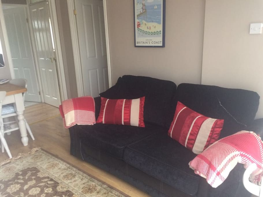 Sofa bed in the lounge area