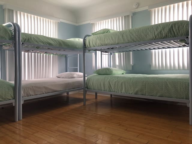 Shared mixed/males only/females only rooms