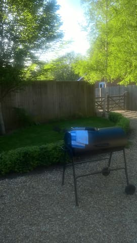 Outside with Barbecue