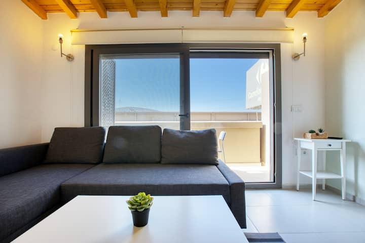 Cesme Marina & Chios Island View with Balcony