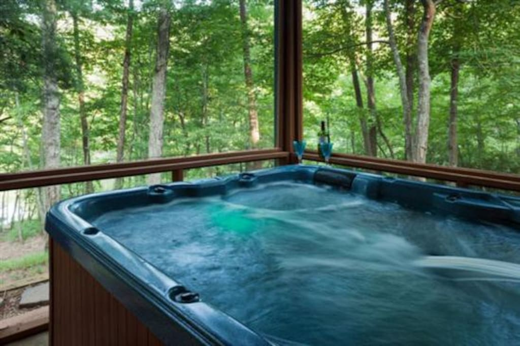 Relaxing view from the Hot Tub