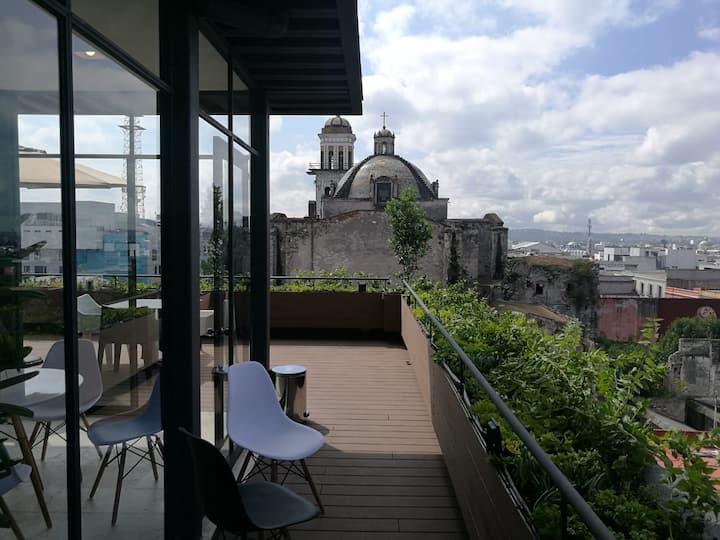 Puebla Loft con terraza En El Centro PB2