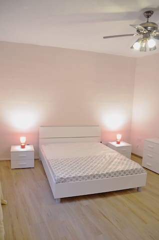 Private room with own key, double king size mattress, big wardrobe and night tables