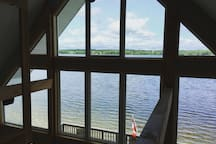 This is the view of the lake from the master bedroom.