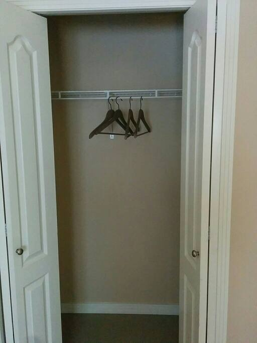 The Closet in the bedroom is yours to use
