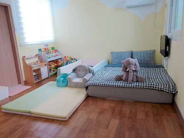 협재어반빌리지 (핫초코) 협재해수욕장 도보 3분 키즈룸 베이비룸 유아용품 및 장난감 제공