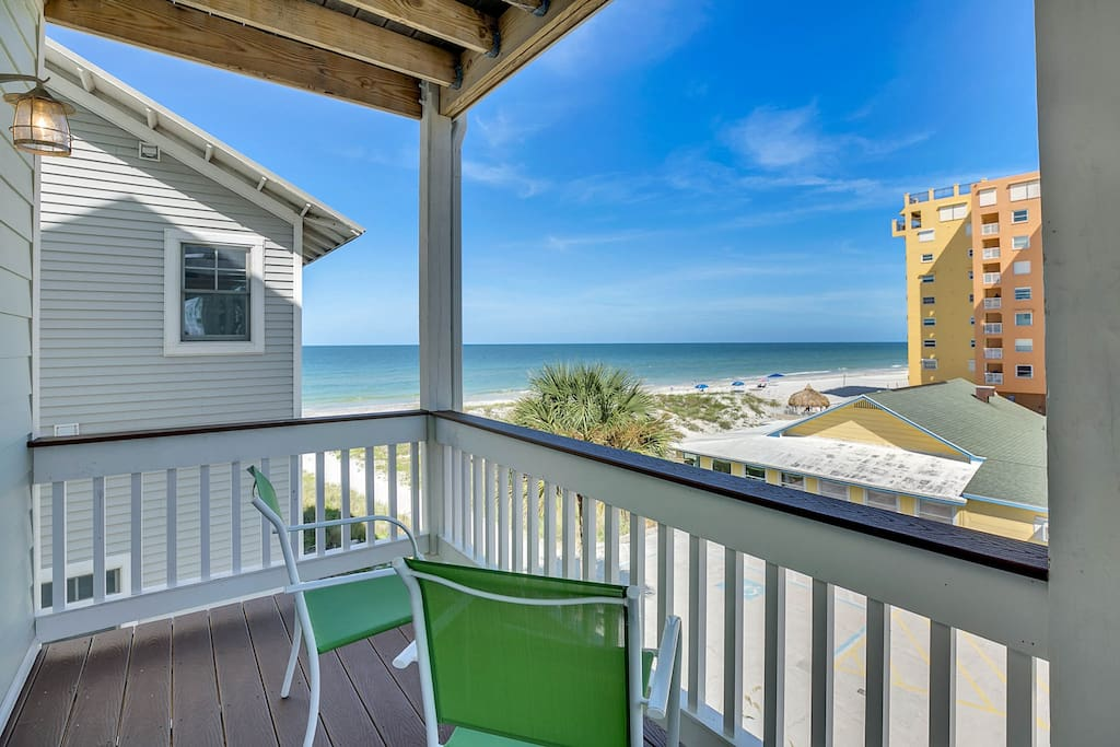 Enjoy ocean views from the third-floor balcony.