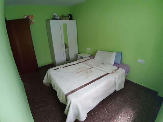 Habitacion para dos personas comoda