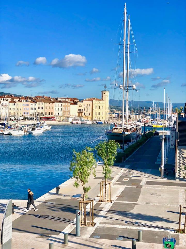 Appart Vieux Port La Ciotat, vue port et vue Mer