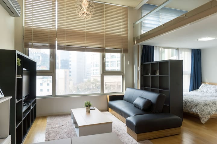loft type Apartment 16min to Gangnam sation - Bundang-gu, Seongnam-si - Pis