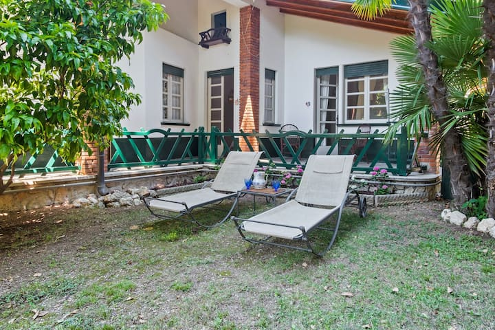 New listing! Garden apartment w/patio & sun room - walk to beach on Lake Garda!