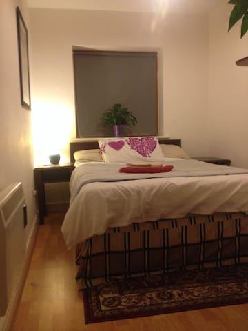 Comfy bed with orthopaedic mattress guaranteeing a good nights sleep