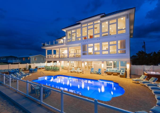 Blue Horizon: Blue Horizon Exceptional 10 bedroom luxury oceanfront estate w/ home gym