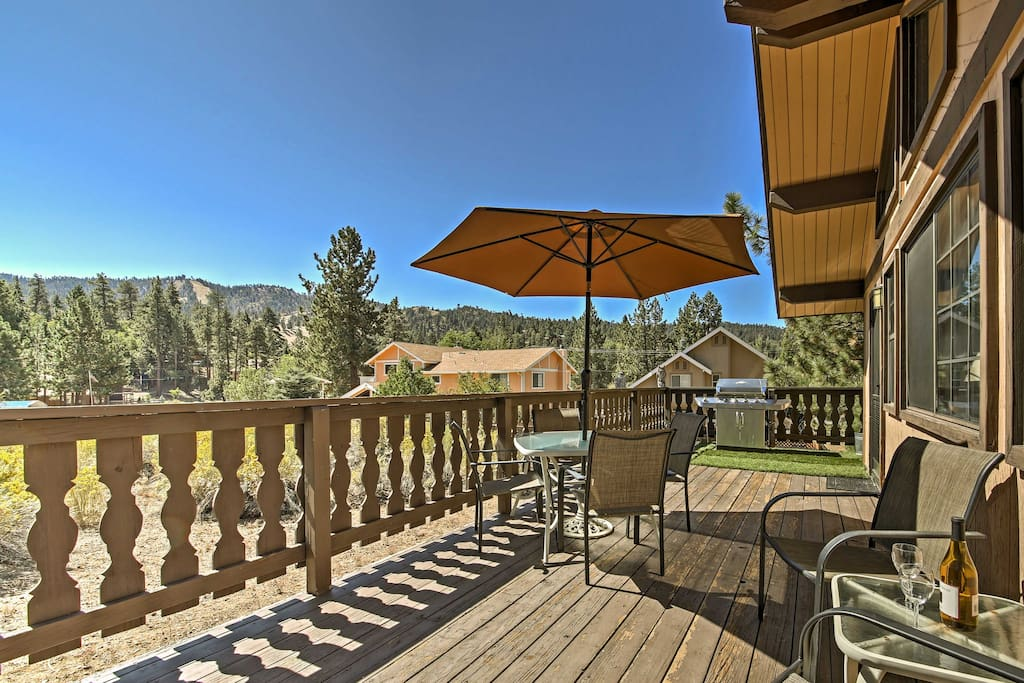 The private deck offers the perfect space to enjoy the California weather.