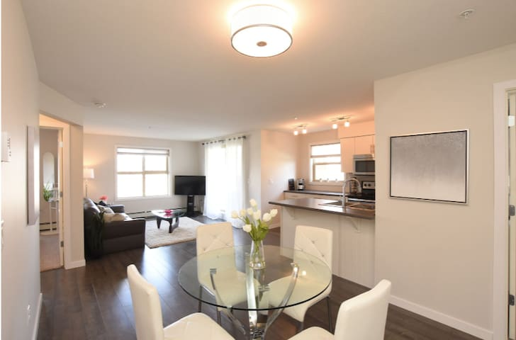 Beautiful, clean 2 bedroom, 5 minutes from airport