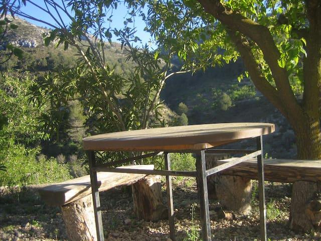 100% Montaña Aitana-Guadalest Chimenea - Confrides - บ้าน