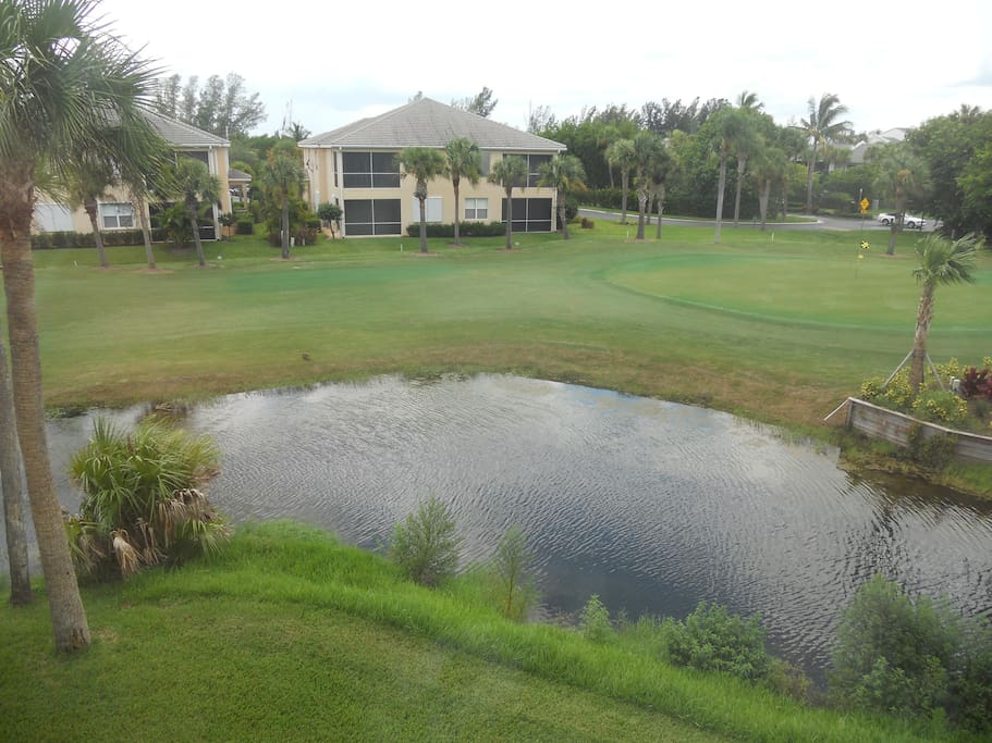 golfcourse/pond view from the