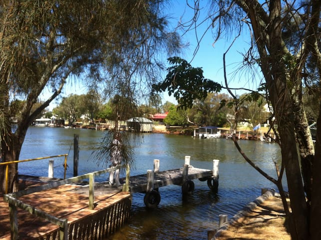 Mandurah Riverfront on  Murray River own mooring!
